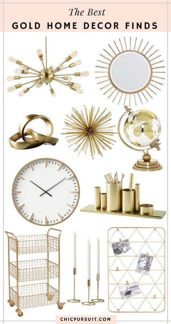The best affordable gold home decor ideas
