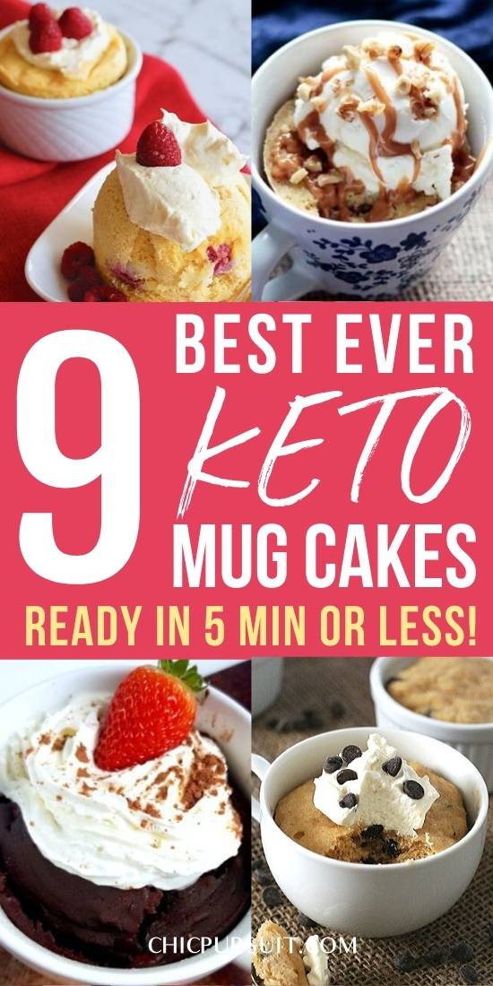 9 Easy Keto Mug Cakes That You Can Make In Under 5 Minutes