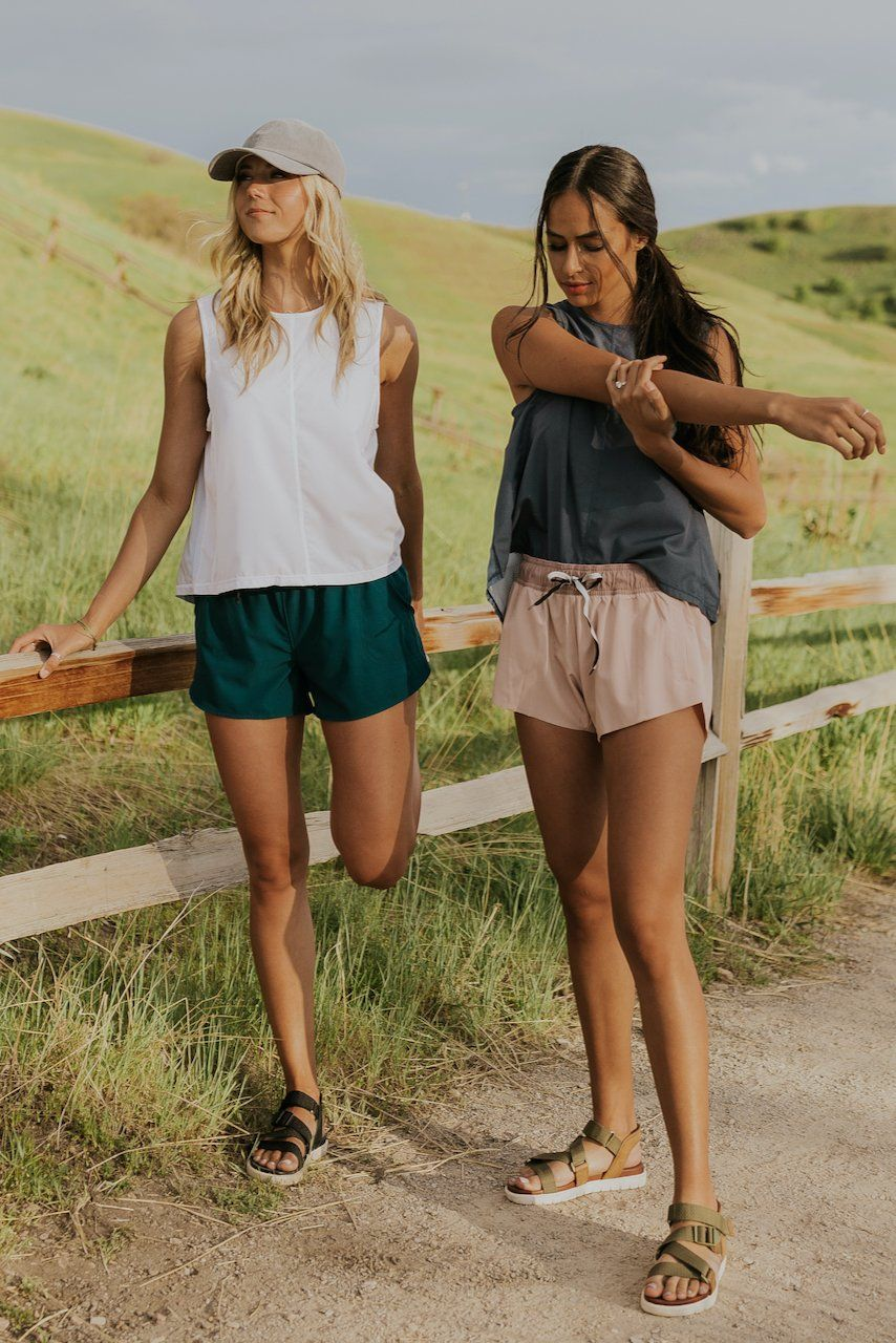 Cut running outfits with shorts