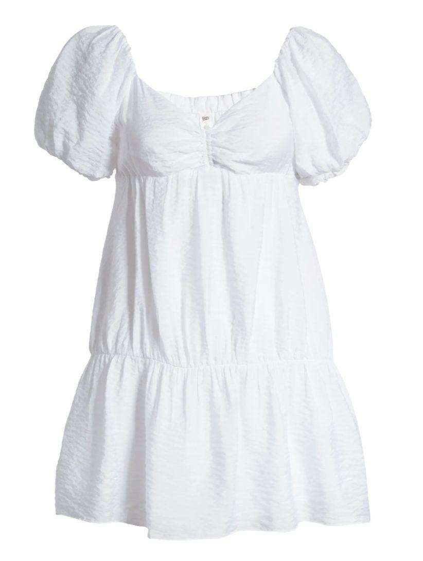 Puffy white summer dress