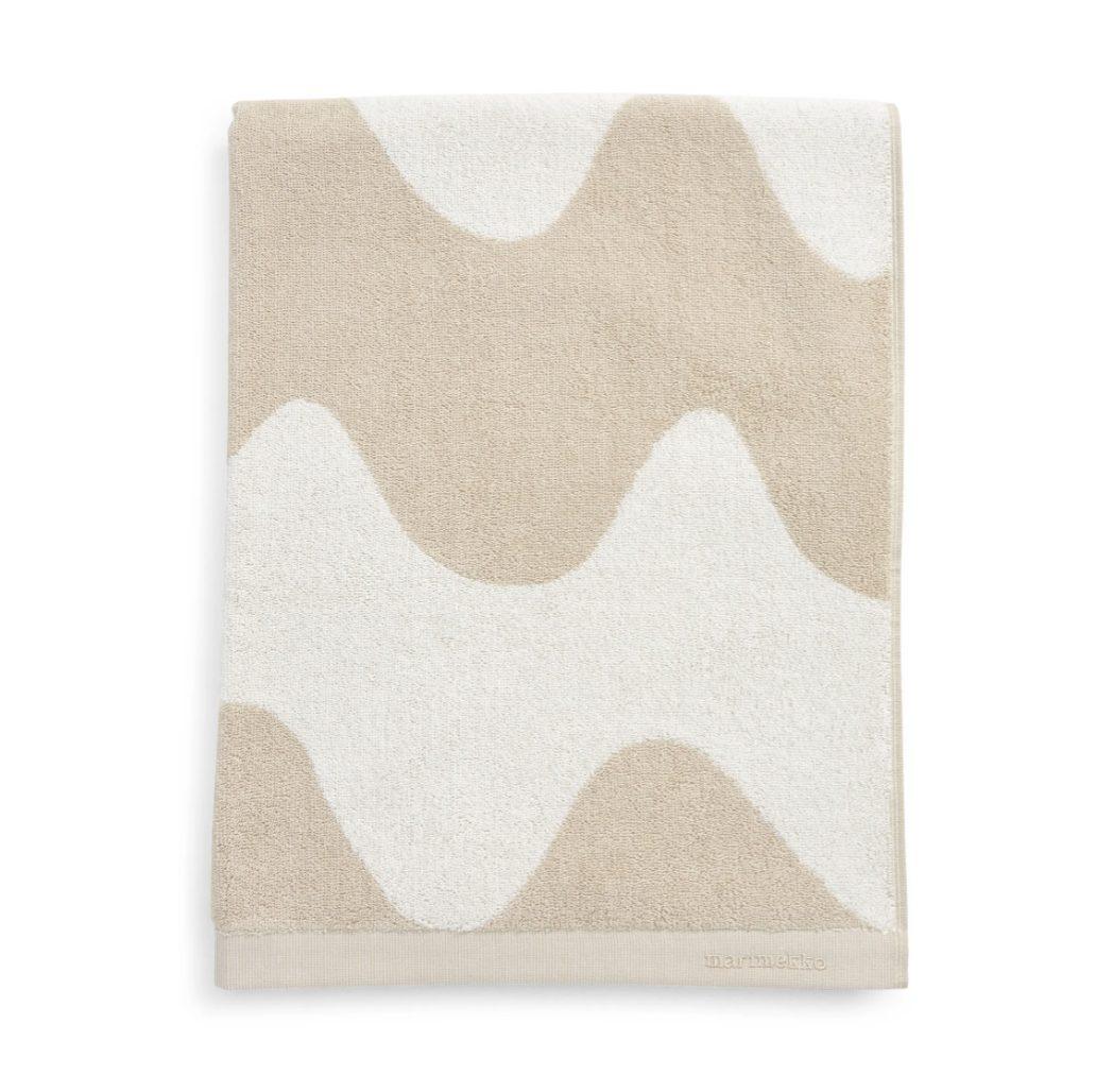 Light beige beach towel from Marimekko