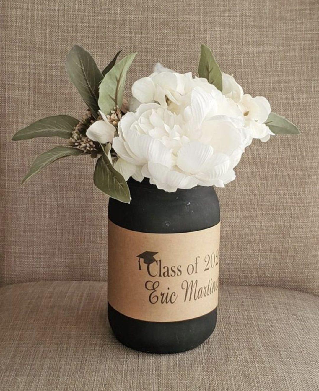 Rustic graduation mason jar