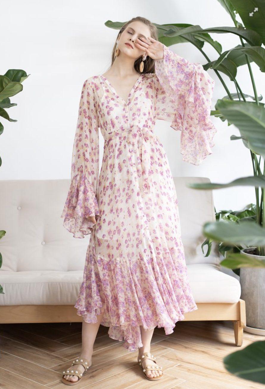 Pink bohemian dress