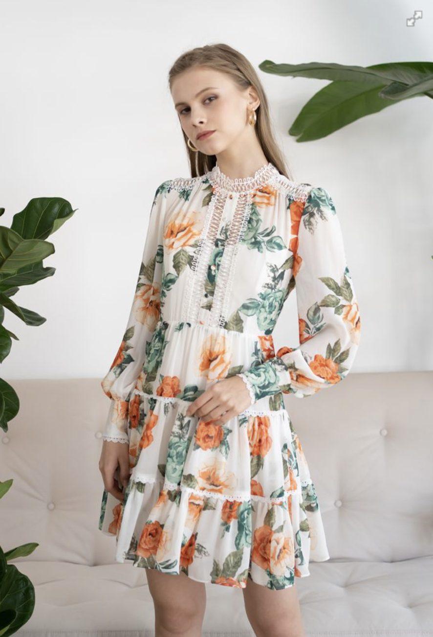 Floral dress like LoveShackFancy