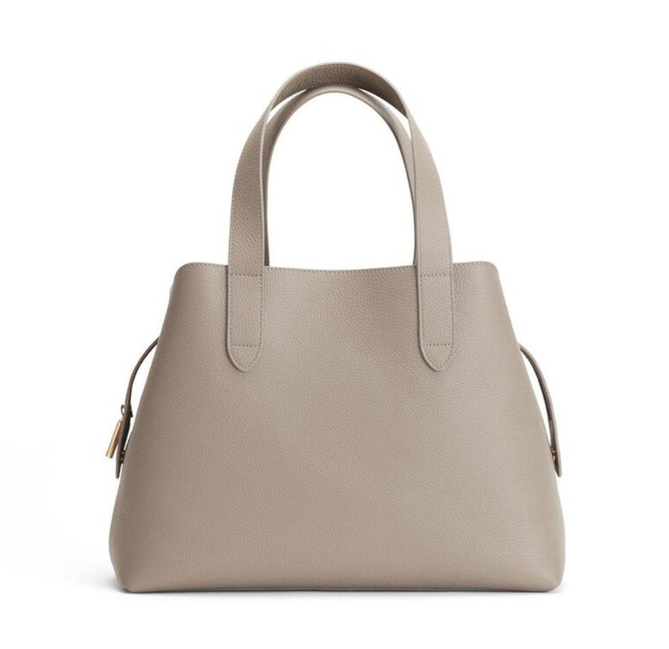 Minimalist beige satchel