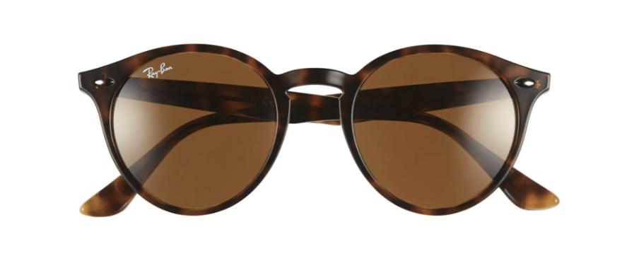 Round tortoiseshell Ray Ban sunglasses