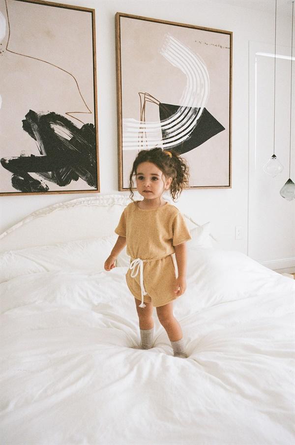 Cute baby girl pkaysuit
