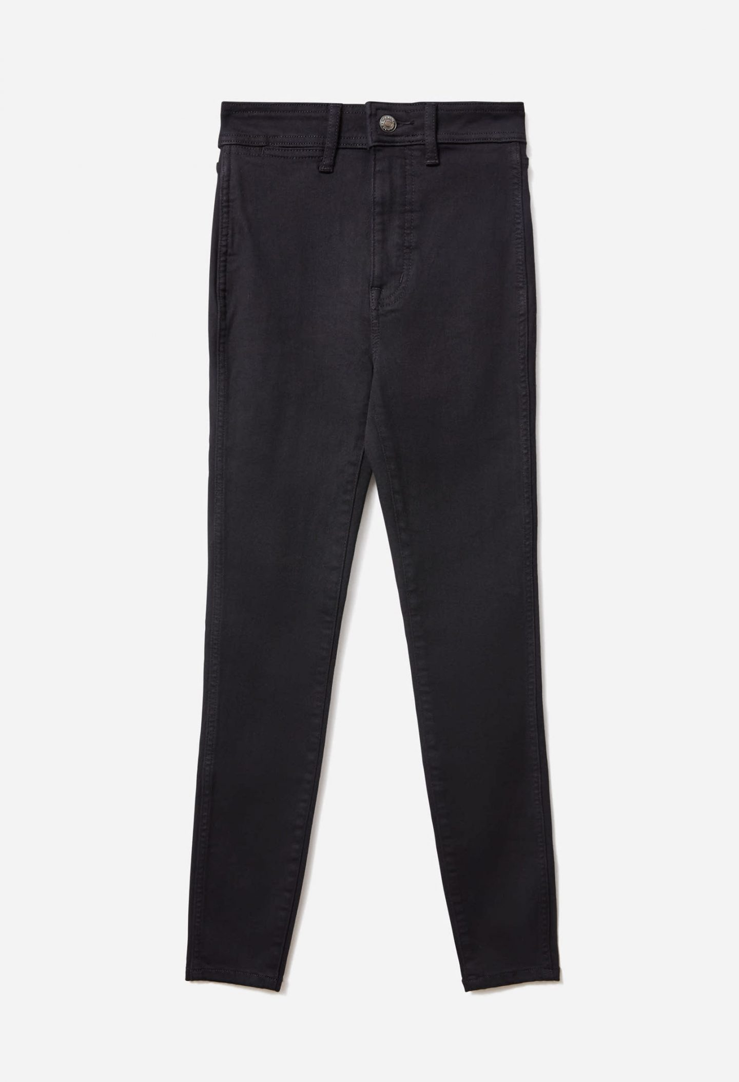 Sustainable black high waisted skinny jeans