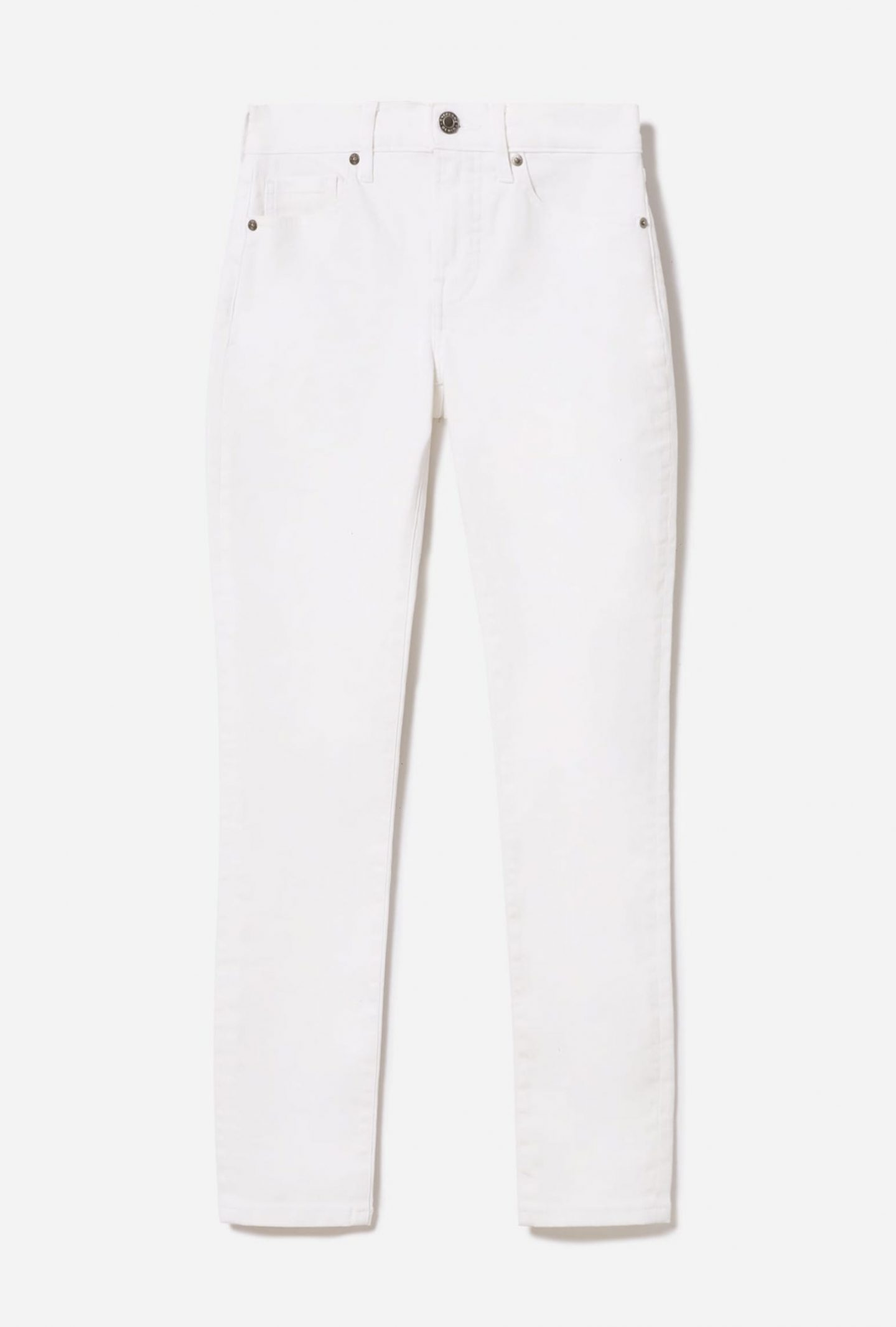 Sustainable white straight jeans