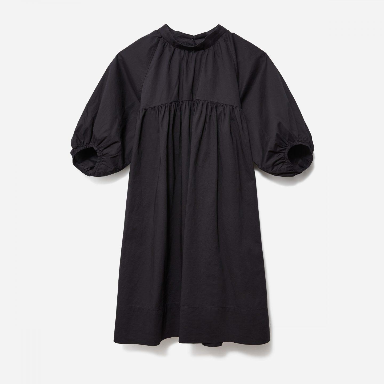 Sustainable black mini dress
