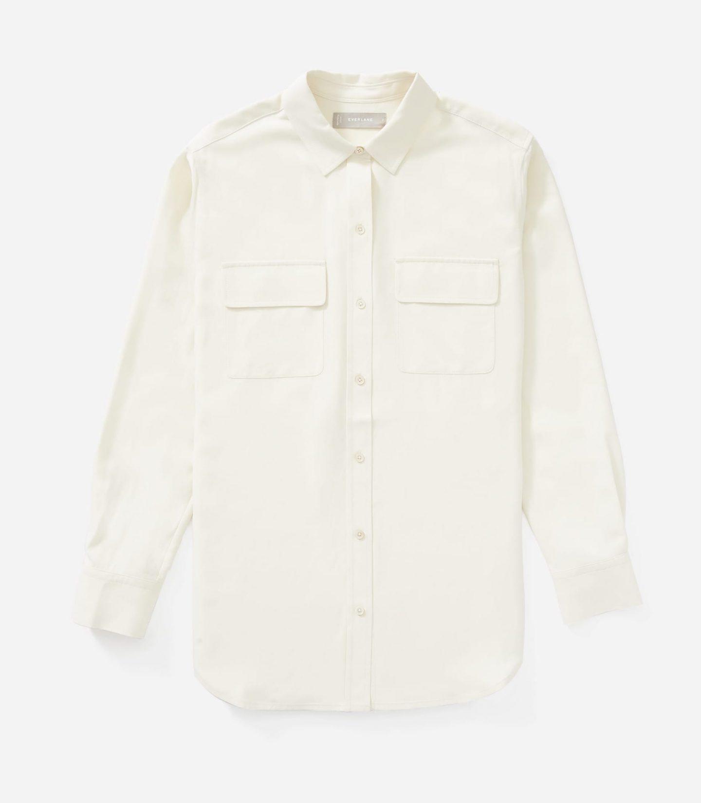 Sustainable basic white blouse