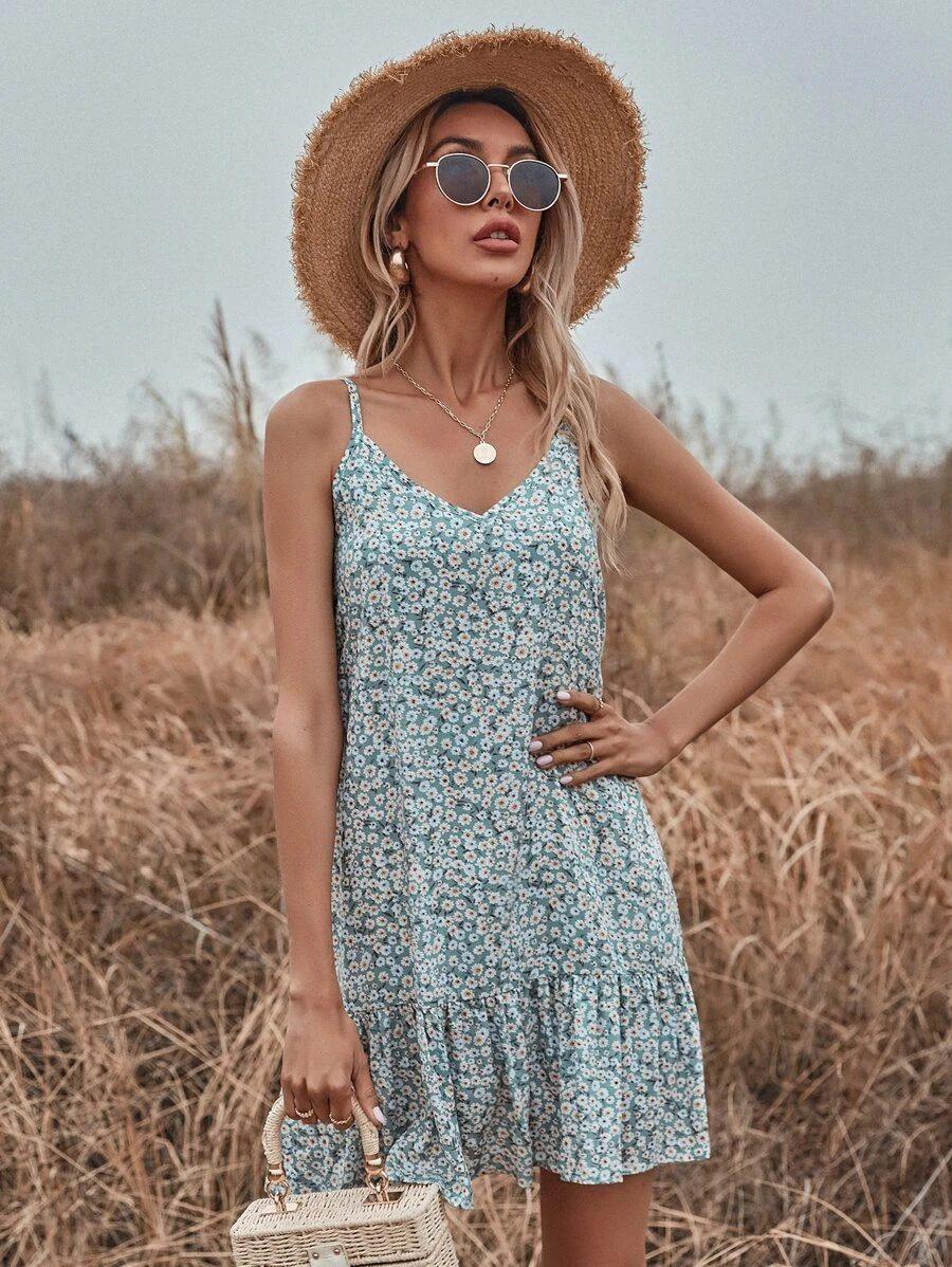 Affordable floral cottagecore dresses like LoveShackFancy