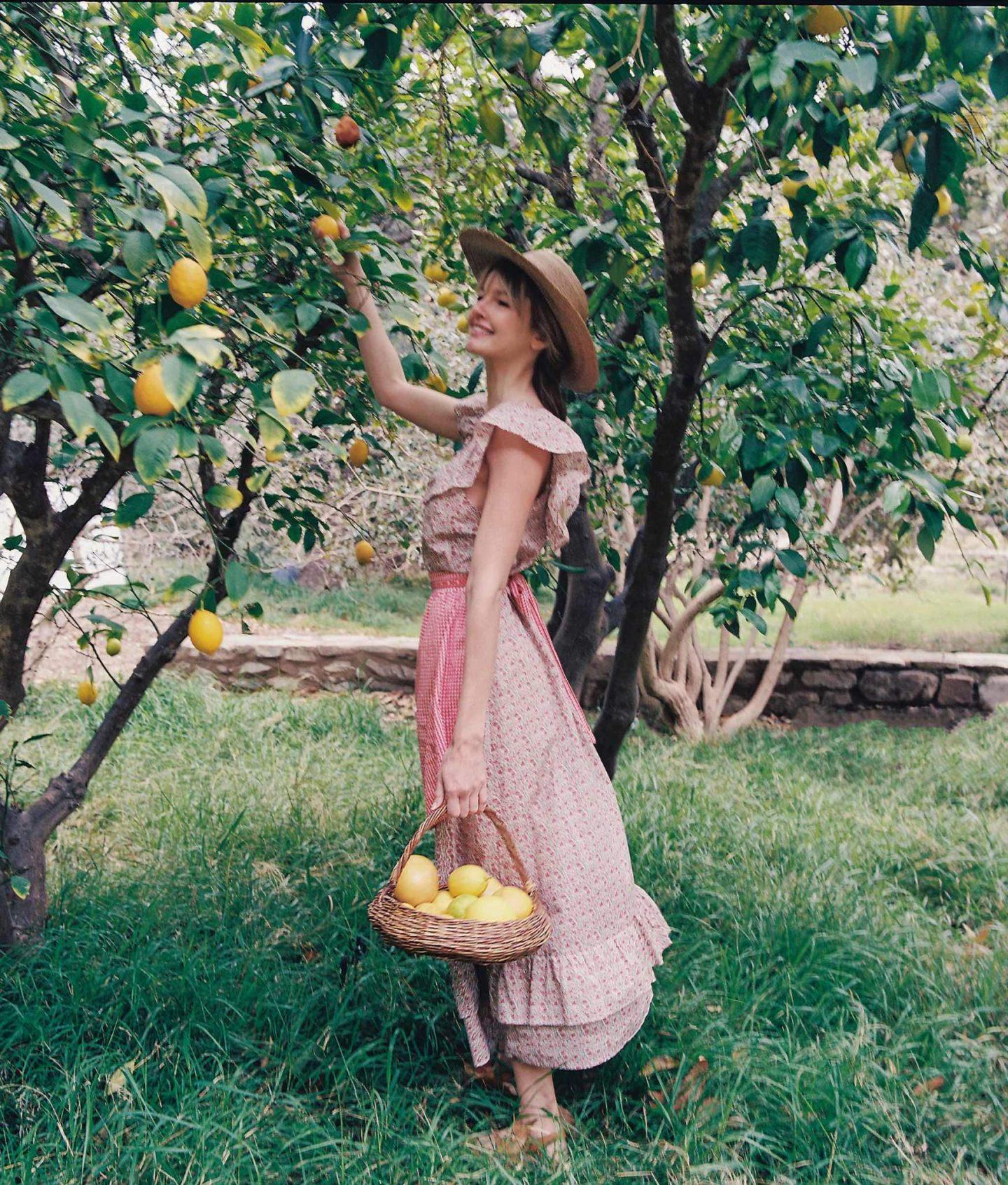 Pink vintage cottagecore dress