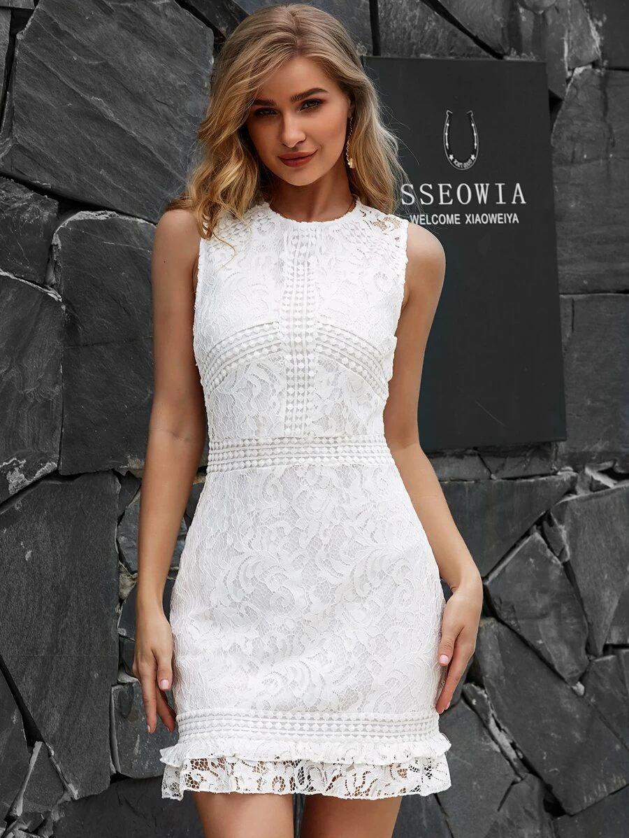 Short lace dress for graduation