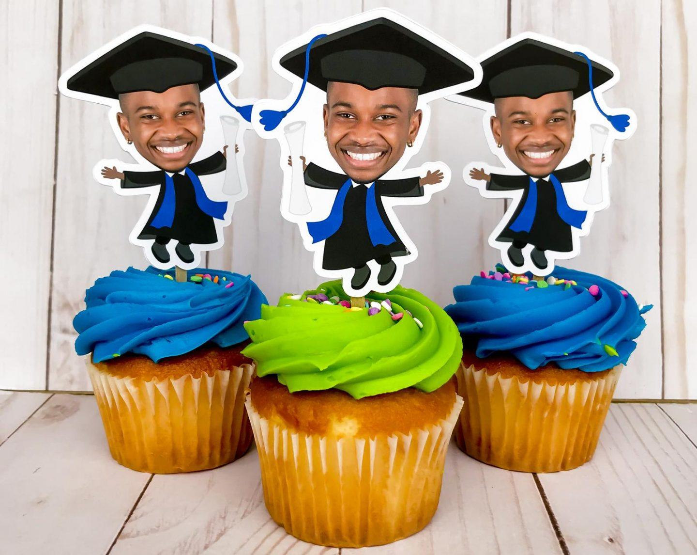 Custom graduation cupcake toppers