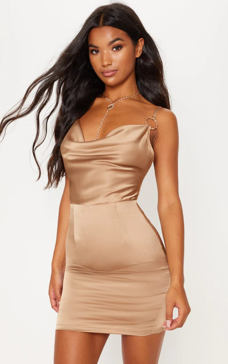 Affordable champagne party dress