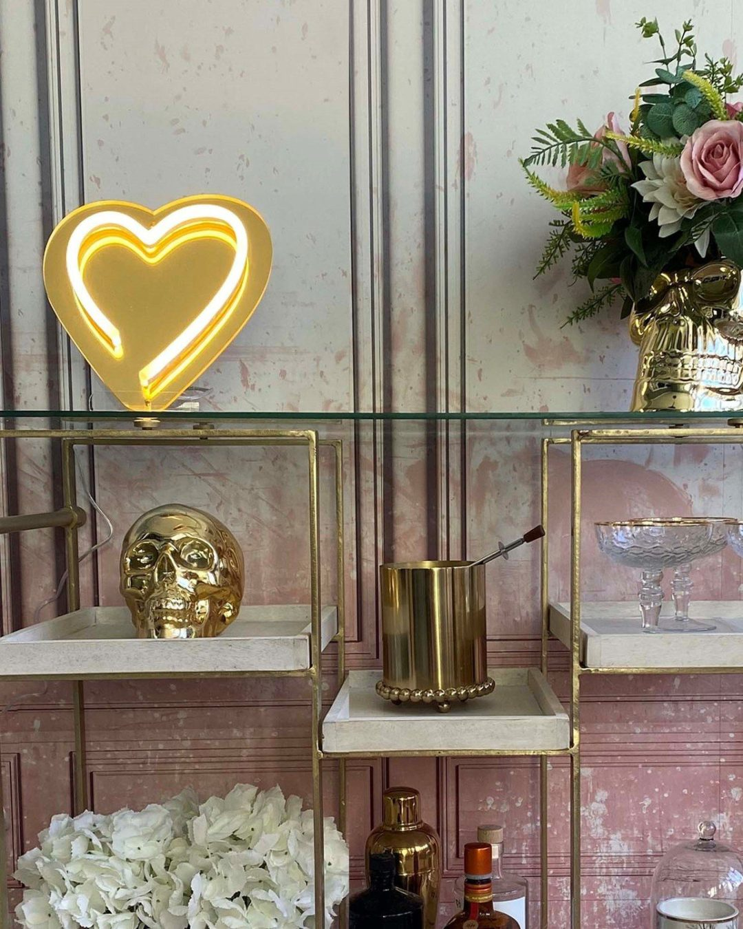 Brass shelf decor from Oliver Bonas