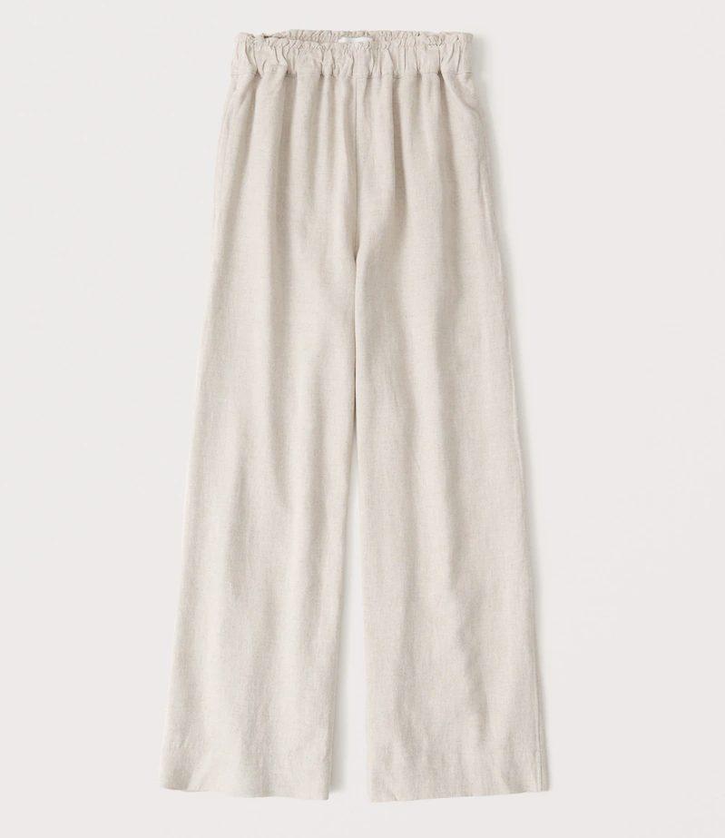 Cream linen pants