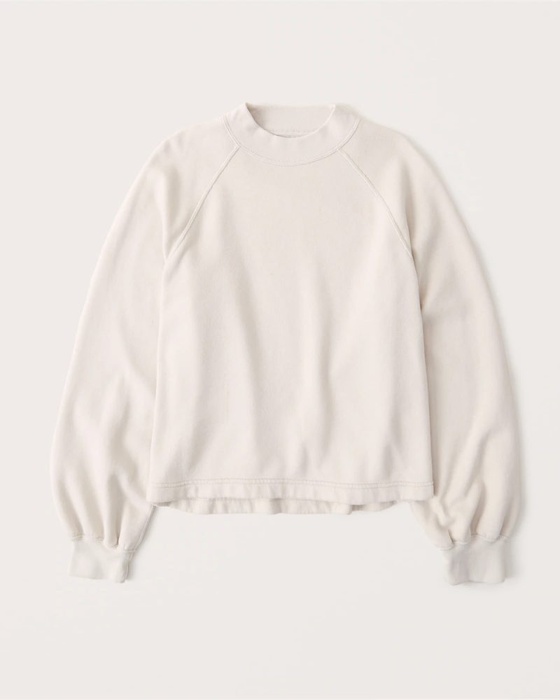 White sweatshirt for lounging