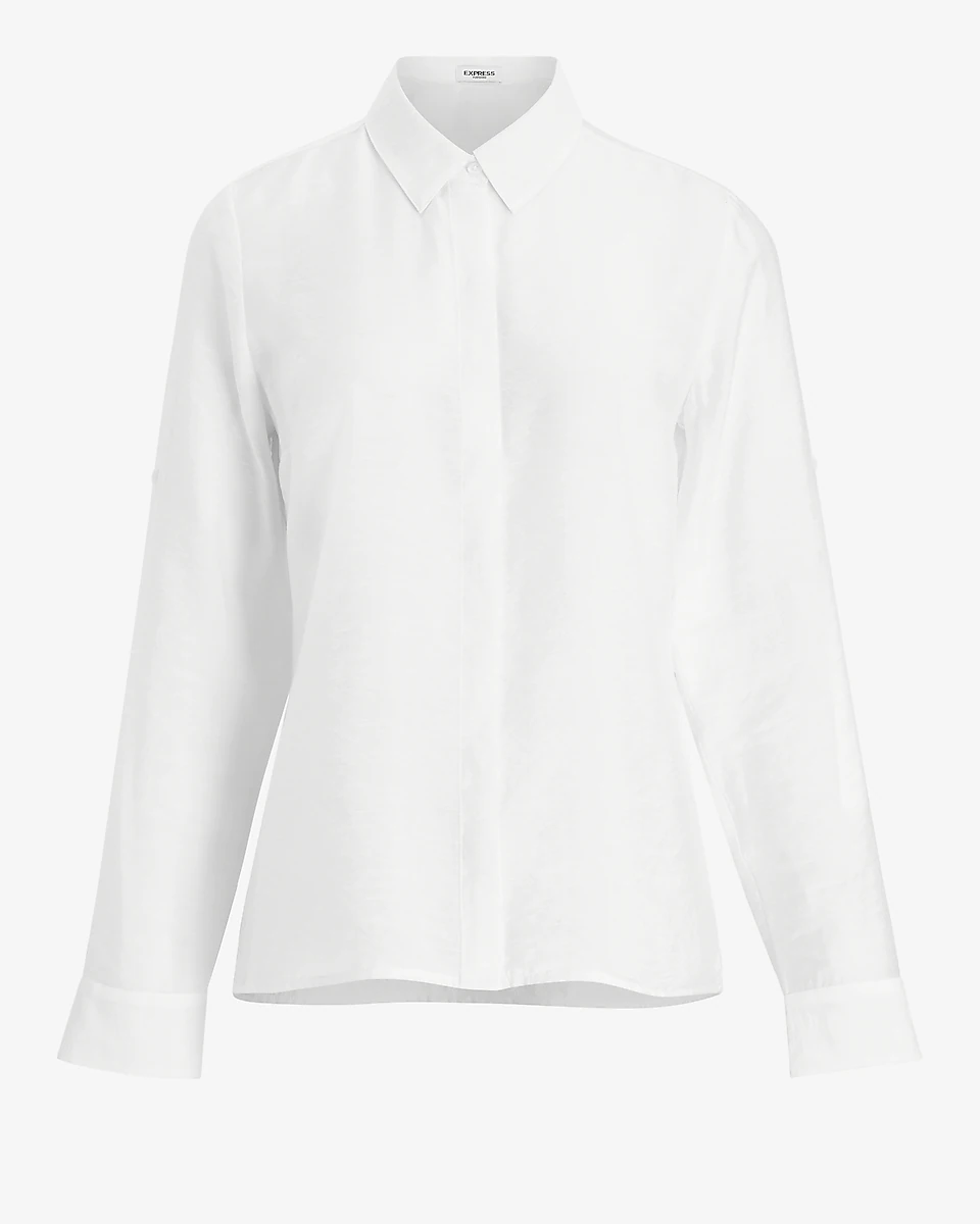 White button-up shirt perfect for the office
