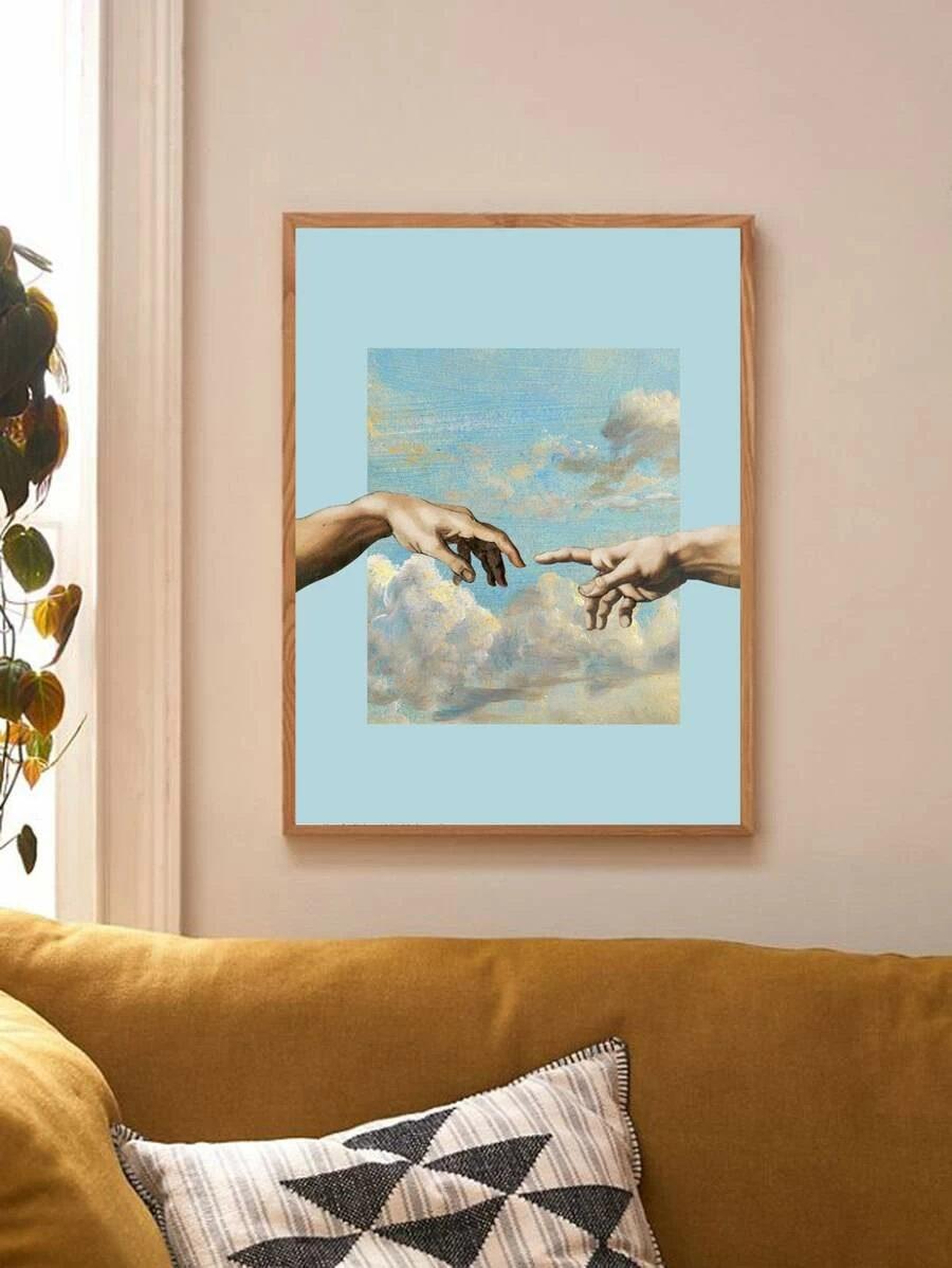 Light blue Michelangelo wall art poster