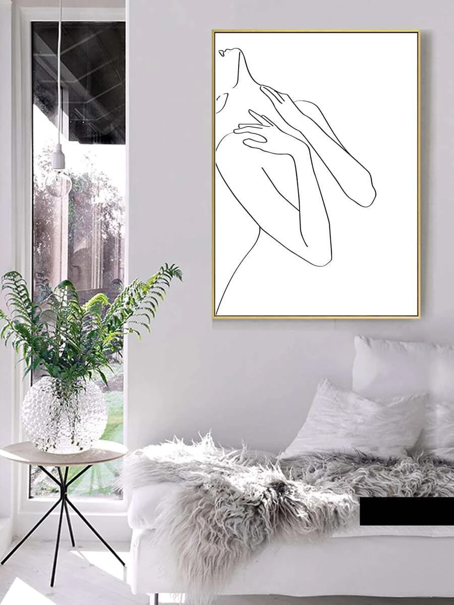 Abstract wall decor with female figure