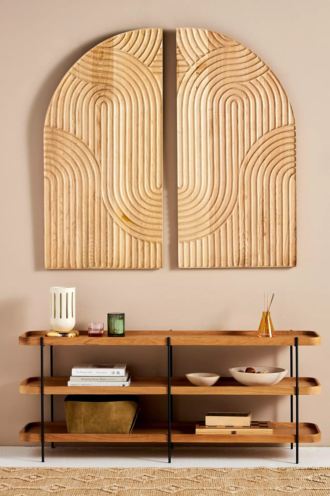 Big wooden bohemian wall art idea