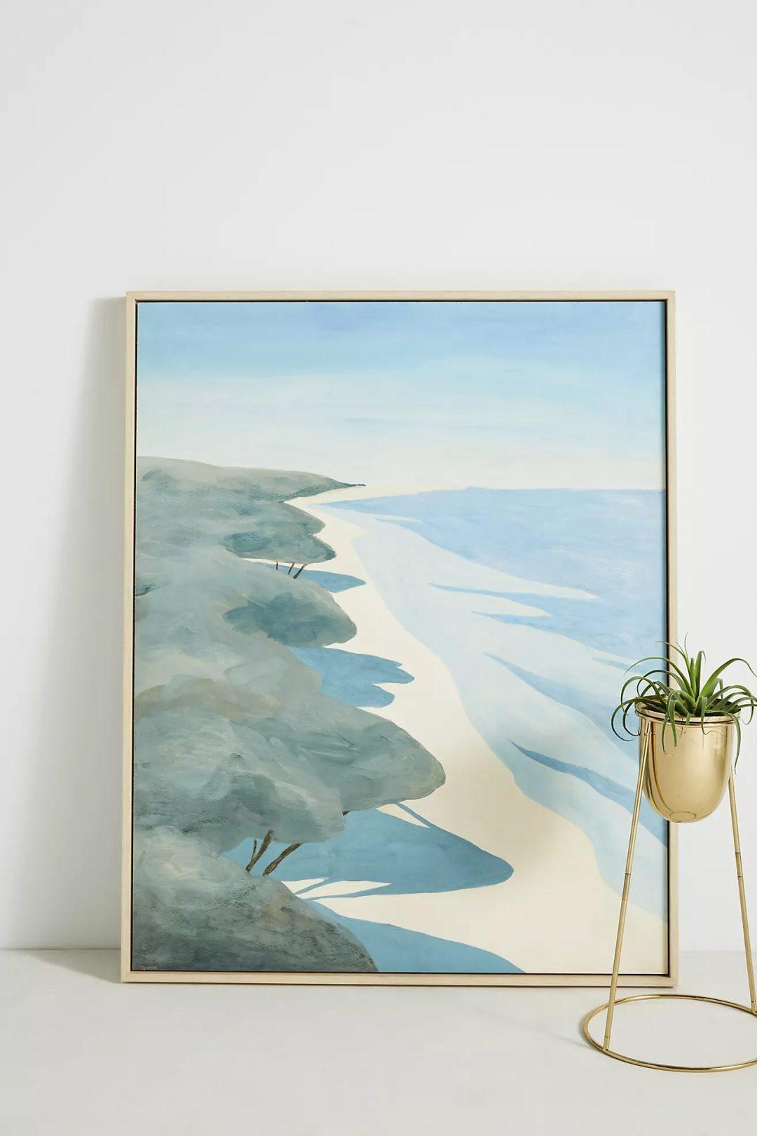 Calming blue sea painting