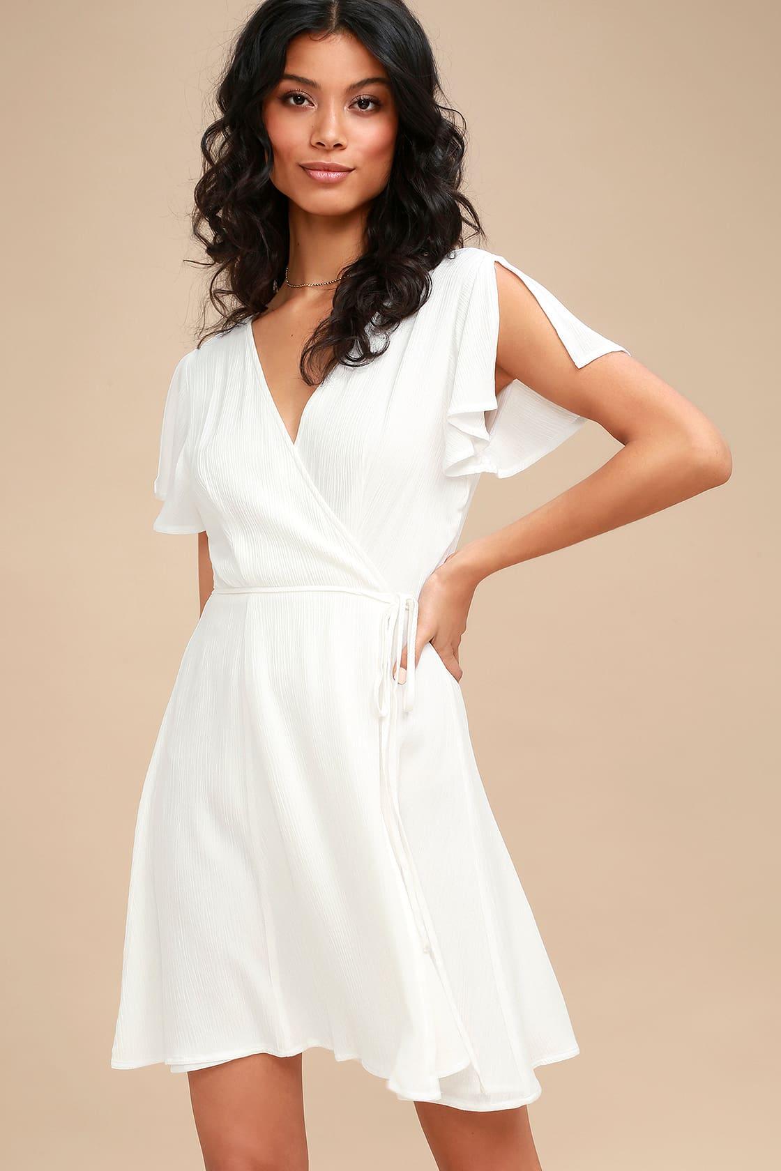 Cute white grad dress