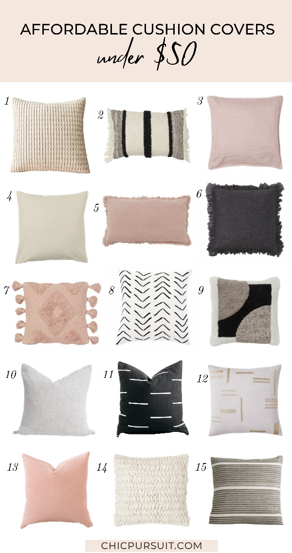 The best affordable cushion covers and throw pillows under $50