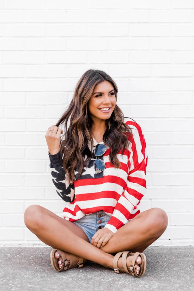 4th of July patriotic sweater