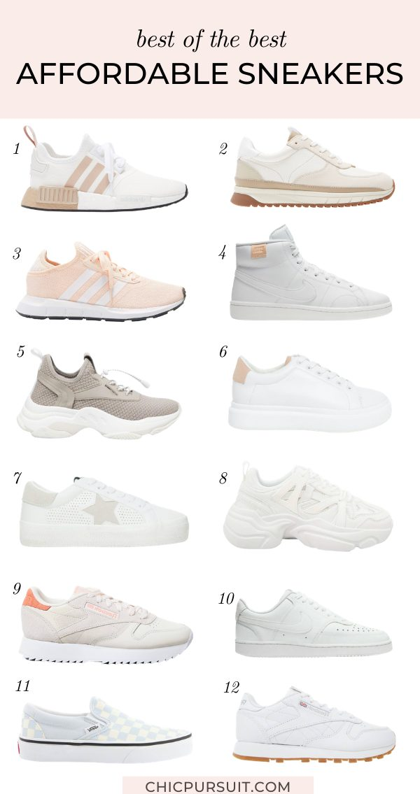 12 Best Affordable White & Neutral Sneakers To Add To Your Cart