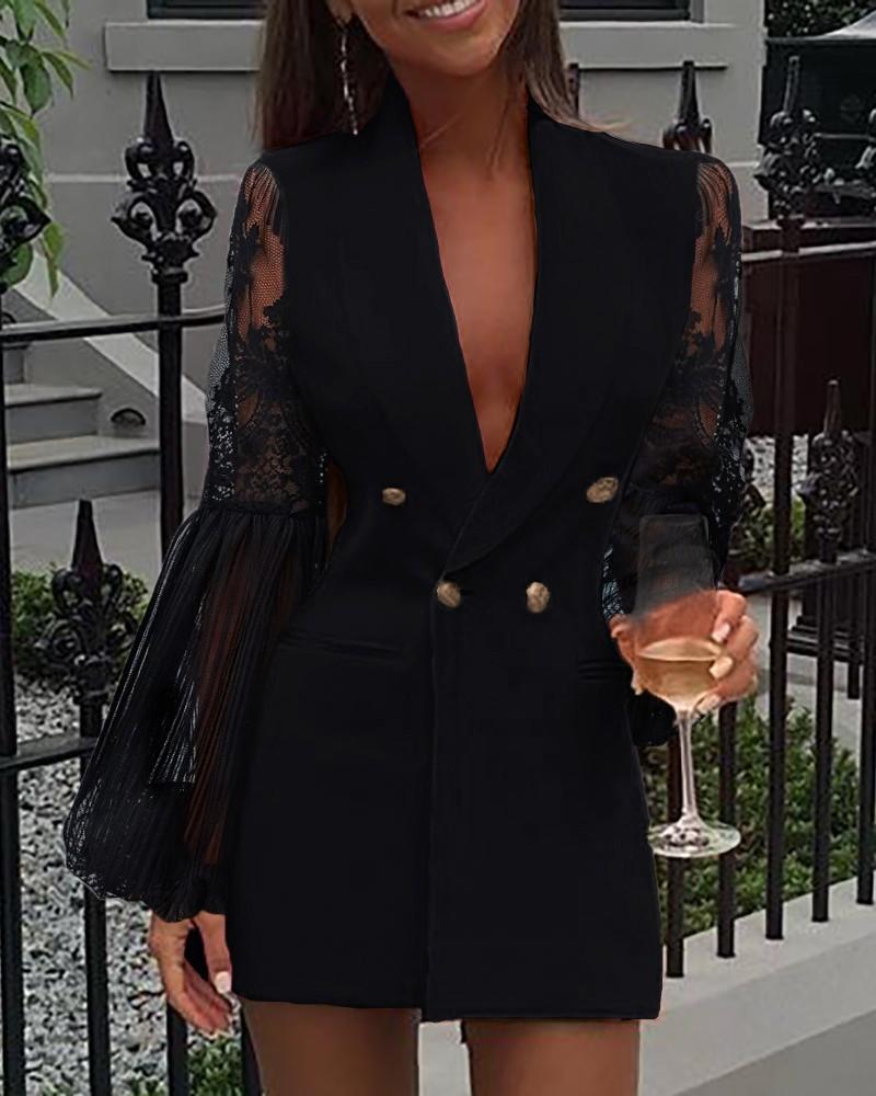 Black blazer dress outfit