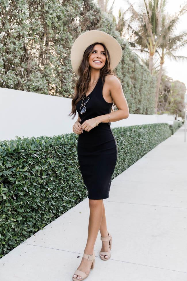 Casual black dress outfit