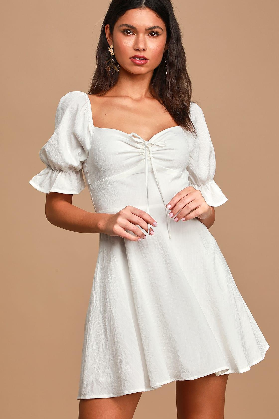 Cute casual white dress