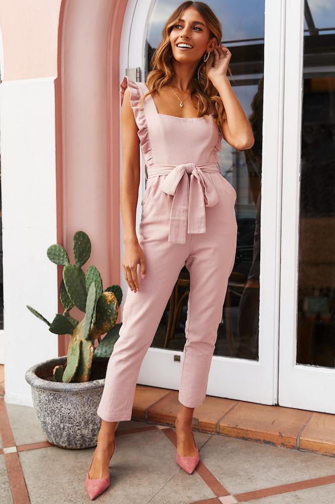 Cute pink jumpsuit