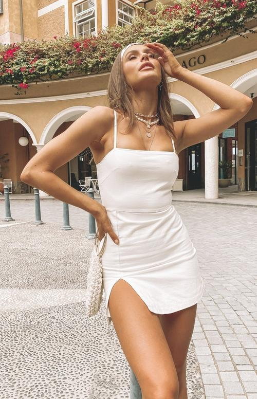 White casual summer dress outfit