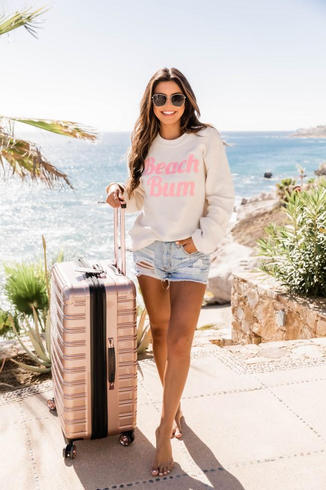 Casual summer outfit with sweatshirt