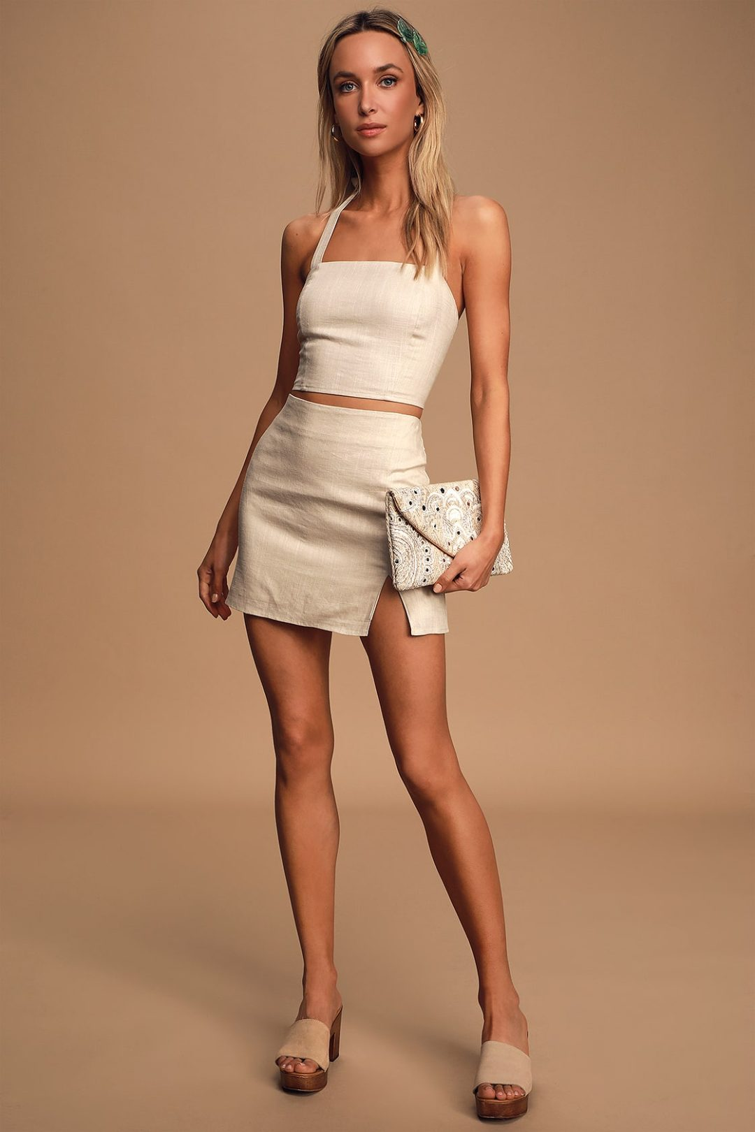 Neutral co-ord set perfect for summer