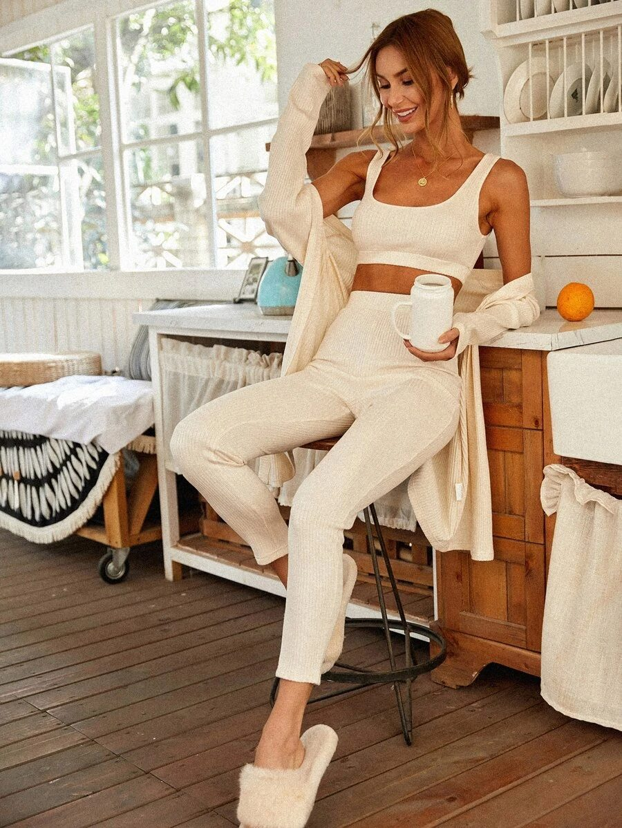 Cute white lounge set for home