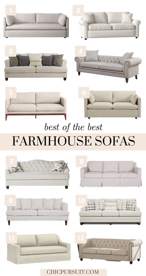 Beautiful neutral farmhouse sofas and couches