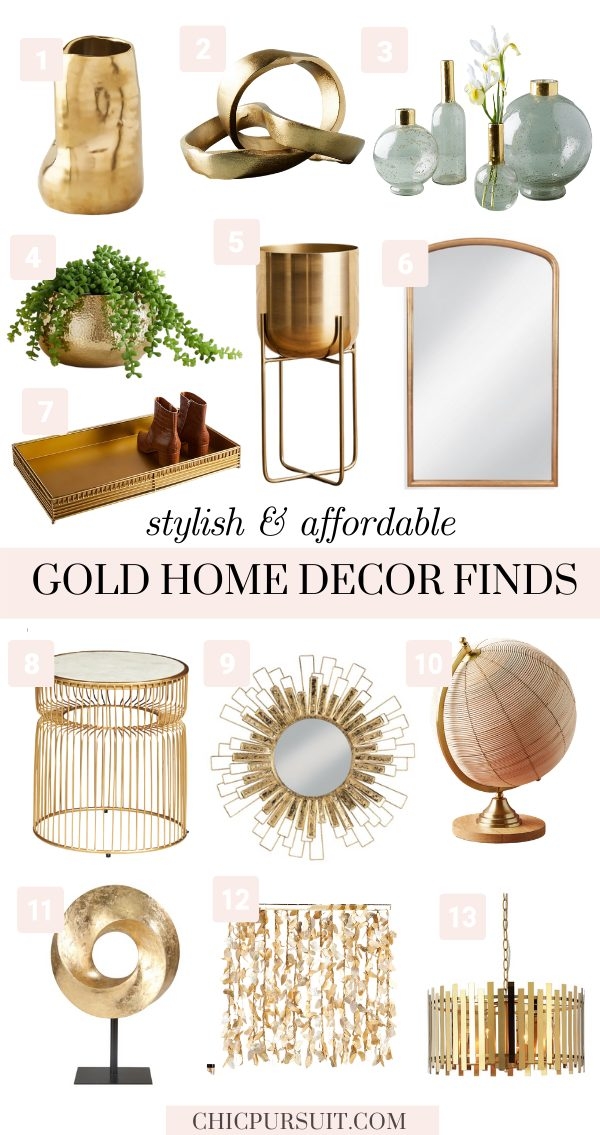 The Best Gold & Rose Gold Home Decor Ideas That You'll Love