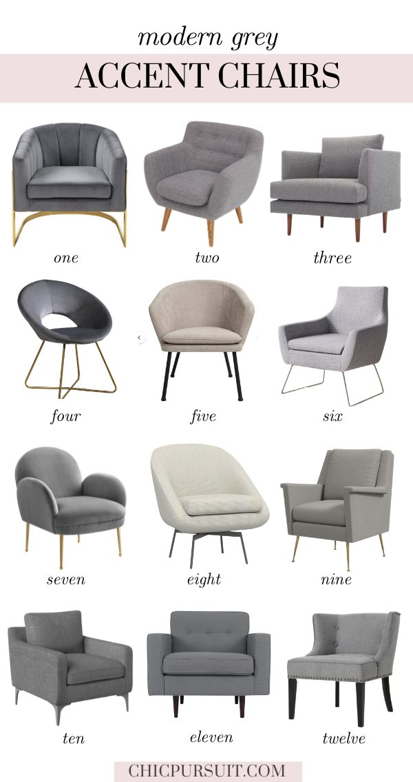 The best modern grey accent chairs