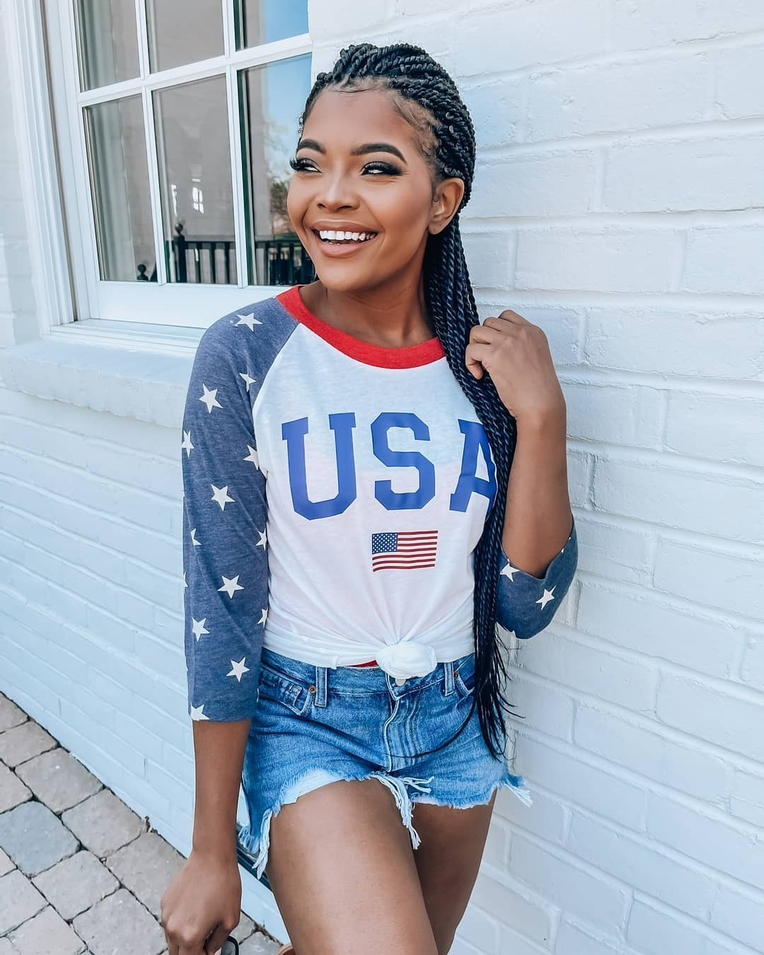 Cute and casual 4th of July outfit