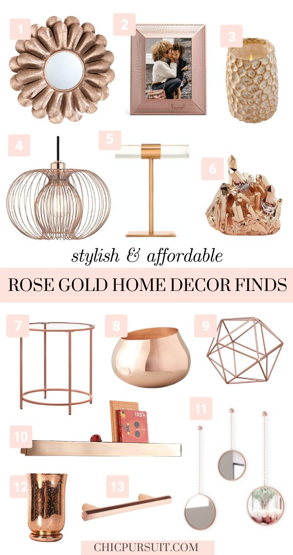 The best affordable rose gold home decor ideas