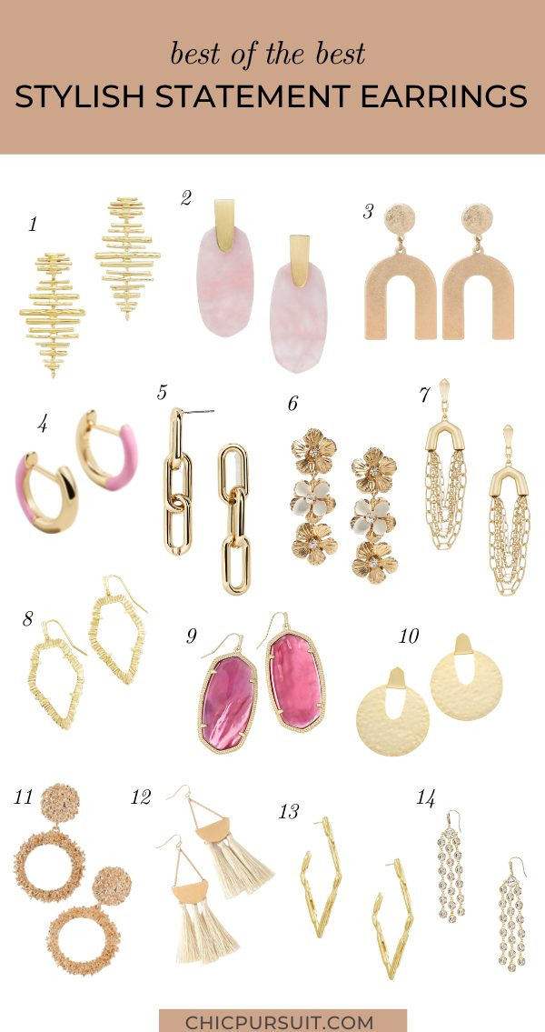 The best gold statement earrings for summer
