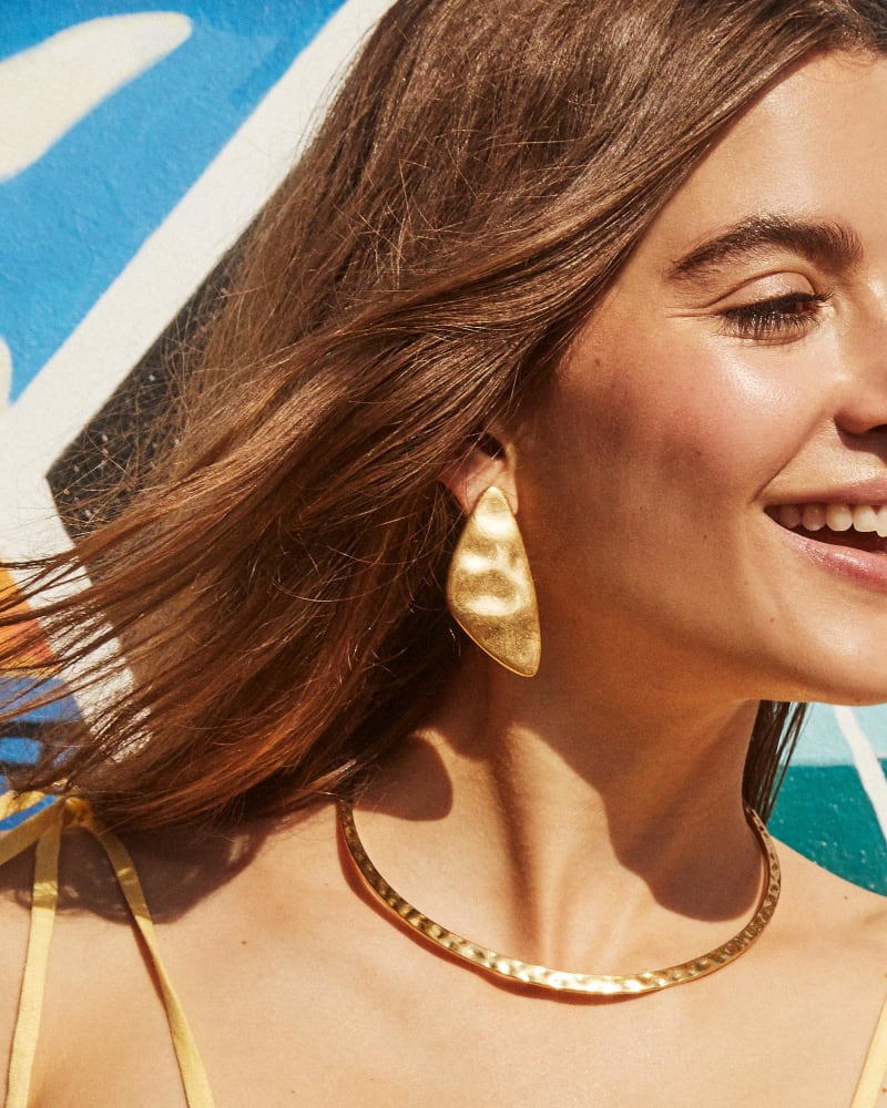 Simple gold statement earrings