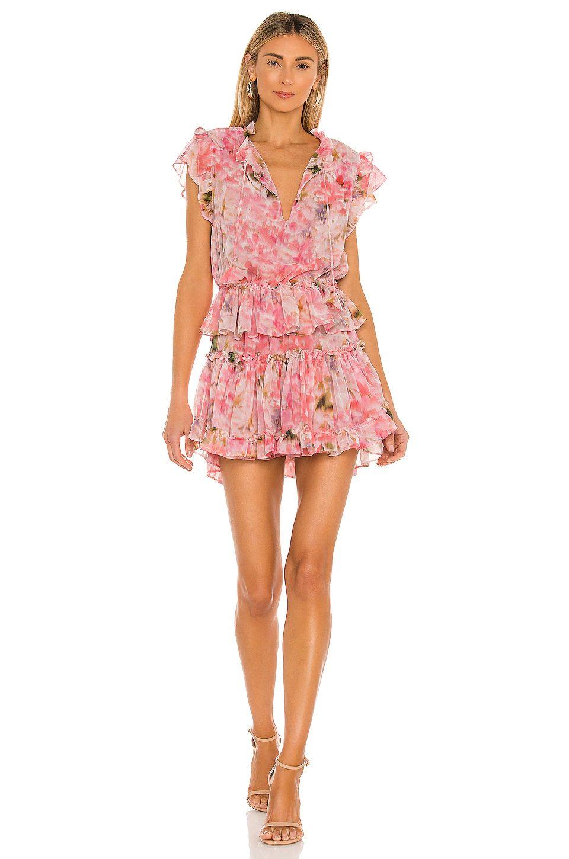 Cute floral ruffle dress
