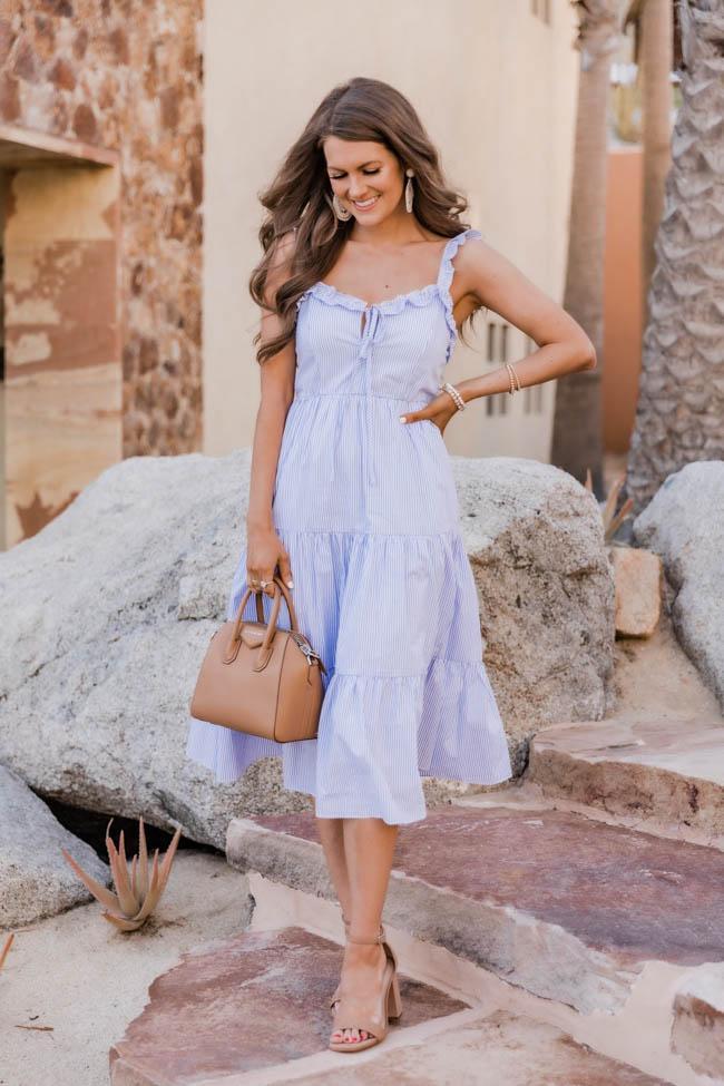 Light blue dress with ruffles