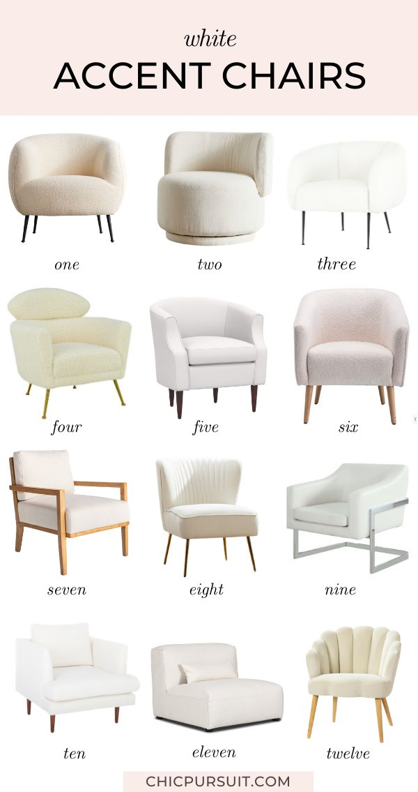 Beautiful white accent chairs